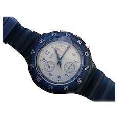 """Man's SWATCH Collection   1997 SCUBA Aquachrono Dive Watch   """"Inky Water"""""""