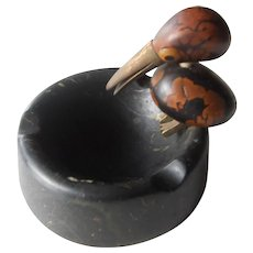 1930's | Unusual Art Deco | Funky Whimsical Nut Bird Ashtray | Style YZ by Henry Howell