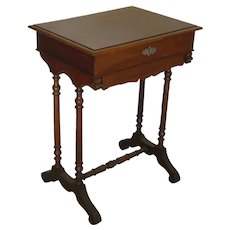 19th Century   Antique Portuguese Sewing Table