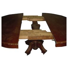 French ANTIQUE | 19th Century | Two Pedestal Extending Dining Table | Richly Hand-Carved Oak