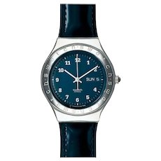 """Man's or Woman's SWATCH Collection   1996 RARE Irony Big """"Blue Road"""" Watch"""