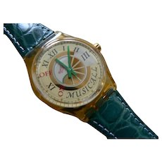 """Man's or Woman's SWATCH Collection   1996 RARE Musicall """"Fagotto"""" alarm Watch"""