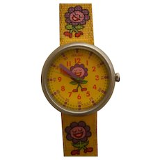 """Girl's Flik Flak Wristwatch Collection by SWATCH   90's """"Flower   AS NEW    Free shipping"""
