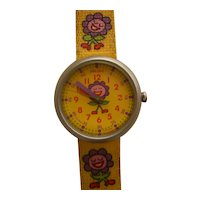 "❀ FLASH Price REDUCTION = 15% OFF | Girl's Flik Flak Wristwatch Collection by SWATCH | 90's ""Flower 