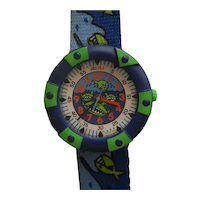 "Child's Unisex Flik Flak Wristwatch Collection by SWATCH | 90's ""Sharks"" 