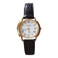 Vintage 1980's | Christian Dior Paris Gold Plated Ladies Dress Watch