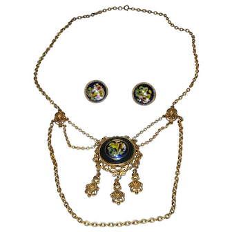 Florenza Necklace and Clip-On Earrings