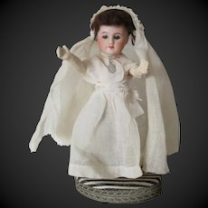 Communion candy box with french bisque head doll
