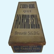 Eden Bebe : original wooden box for the mechanical walking doll