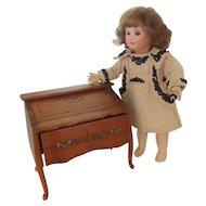 "jewel box wooden doll Desk 6 1/2"" x 6"" x 3 3/4"" Bleuette size"