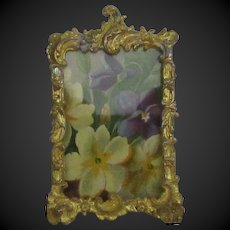 small Picture frame in gilt pewter & brass