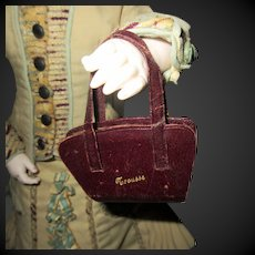 Fashion doll leather bag for sewing necessary