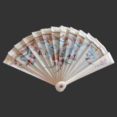 miniature antique Fan for fashion doll