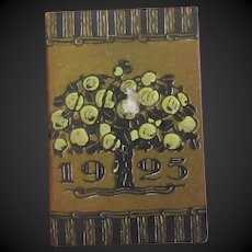 """Au Bon Marche 1925 french Almanac for a doll display 1 1/3""""x2 1/6"""""""