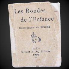 1895  miniature doll book Les Rondes de l'Enfance music sheet and children s songs