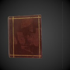 1895 : miniature doll Book with leather cover 2 stories