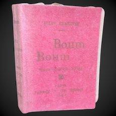 1898 : miniature doll book BOUM BOUM