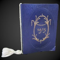 """1915 french Almanac for a doll display 1 1/3""""x2"""""""