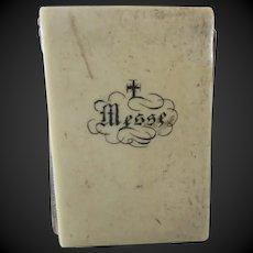 "miniature french Prayer book for dolls Paris XIX° century 1 2/3""x1 1/6"""