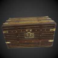 "Trunk for Bebe or doll . 15 1/3""x8 1/4""x8 1/4"" . circa 1890"