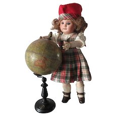 "small terrestrial globe with compass 8 2/3"" ERD-GLOBUS"