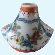 """Desvres porcelain : Fourmaintraux . 1"""" vase"""