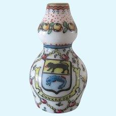 """Desvres porcelain : Fourmaintraux . 1 1/3"""" vase"""