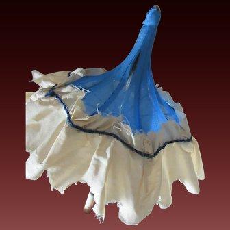Original silk pagoda Parasol french fashion doll for Huret,Rohmer ....