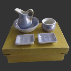 small Toilette set for doll in box