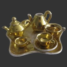 set of 7 pieces of porcelain Tea Service for doll