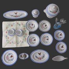 porcelain Dinner Service for doll or child