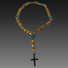 accessory for Fashion doll : rosary (chapelet), length 4 1/3""