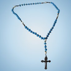 """accessory for Fashion doll : rosary (chapelet), length 7 1/2"""""""