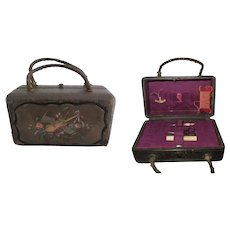 Beautiful sewing suitcase for fashion doll