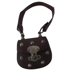 """accessory for Fashion doll : leather purse, height 3 1/4"""""""