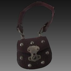 accessory for Fashion doll : leather purse, height 3 1/4""