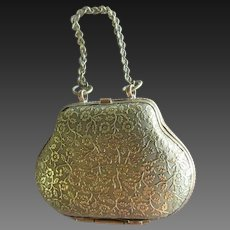 "accessory for Fashion doll : metal purse, height 1 3/4"" and 3 1/4"" with the handle"