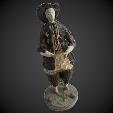 """7 3/4""""  shell doll c. 1850 with provenance : French Museum"""