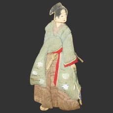 """2 3/4"""" Paper doll with cloth outfit . japanese"""