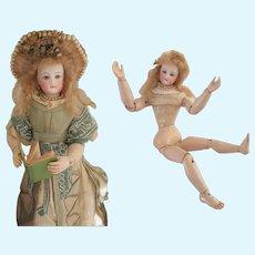 """Fashion doll 14 1/4"""" : Bru wood body with FG head"""