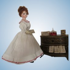 """fashion doll Jumeau with painted tongue - 13 1/3"""" antique clothes"""