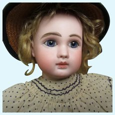 "16"" BEBE STEINER Bourgoin early Figure with label Au Nain Bleu"