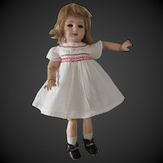 Bleuette doll period 1940,bisque head,original GL clothes