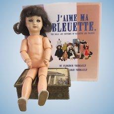 Bleuette doll period 1940, bisque head damaged