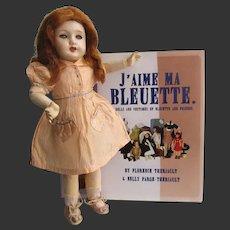 Bleuette doll composition head. original GL clothes