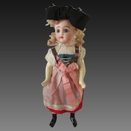 Henri Delcroix : french antique doll, 10 1/4 in, orig clothes