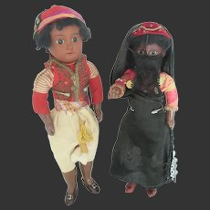 couple of black dolls all original by Fleischmann