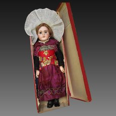 """all original in box : PARIS BEBE period 1900 with a rich french folkl costume, 20"""""""