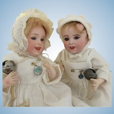 pair of Laughing Jumeau size 0 . SFBJ 236   8""
