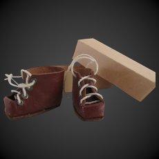 Bleuette ski shoes : original in box. leather. Gautier Languereau